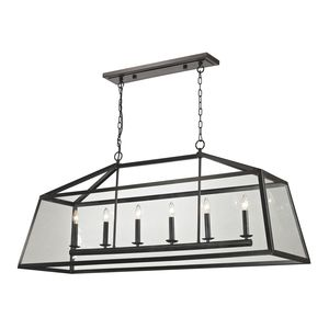 Alanna Collection 6 Light Pendant In Oil Rubbed Bronze by Elk Lighting