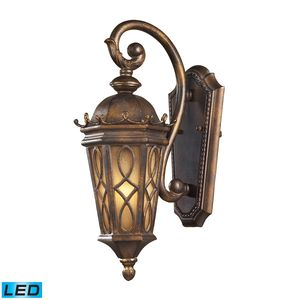 1 Light Outdoor Sconce In Hazlenut Bronze And  Amber Scavo Glass by Elk Lighting