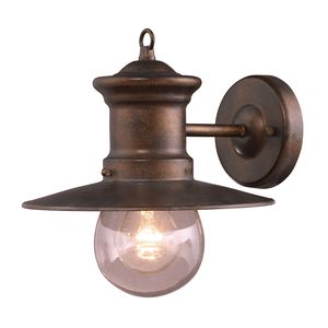 1 Light Wall Bracket In Hazlenut Bronze And Clear Seeded Glass by Elk Lighting