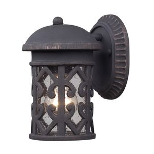 Tuscany Coast 1-Light Outdoor Sconce In Weathered Charcoal by Elk Lighting
