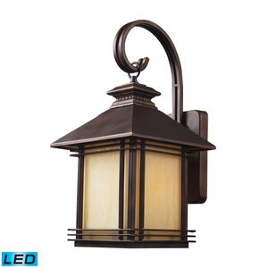 1 Light Outdoor Wall Sconce In Hazelnut Bronze by Elk Lighting
