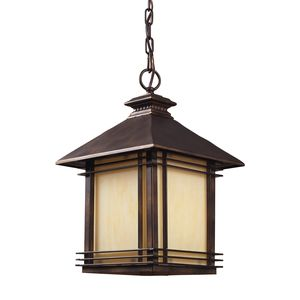 1 Light Outdoor Pendant In Hazlenut Bronze by Elk Lighting