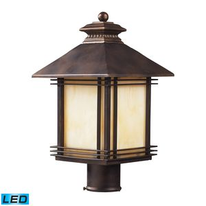 1 Light Outdoor Post Light Light In Hazelnut Bronze by Elk Lighting
