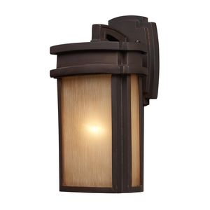 1 Light Outdoor Sconce In Clay Bronze by Elk Lighting