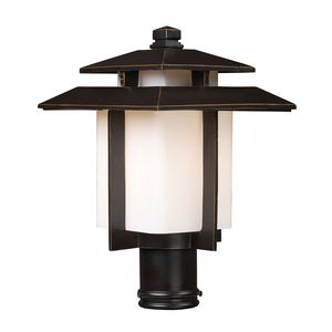 Kanso 1 Light Outdoor Pier Mount In Hazelnut Bronze by Elk Lighting