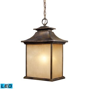San Gabriel 1-Light Outdoor Pendant In Hazelnut Bronze by Elk Lighting