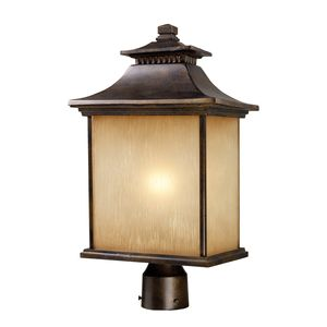 San Gabriel 1-Light Outdoor Post Light In Hazelnut Bronze by Elk Lighting