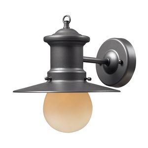 1- Light Outdoor Sconce In Graphite by Elk Lighting
