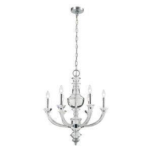 6- Light Chandelier In Polished Chrome by Elk Lighting