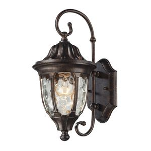 Glendale 1 Light Outdoor Sconce In Regal Bronze by Elk Lighting