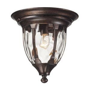 Glendale 1 Light Outdoor Flush Mount In Regal Bronze by Elk Lighting