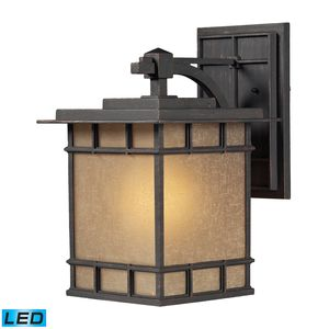 Newlton 1 Light Outdoor Sconce In Weathered Charcoal by Elk Lighting