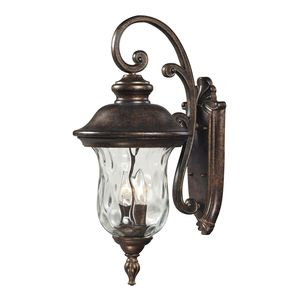 Lafayette 3 Light Outdoor Sconce In Regal Bronze by Elk Lighting