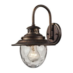 Searsport 1 Light Outdoor Sconce In Regal Bronze by Elk Lighting