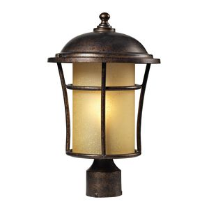 Bolla Vista 1 Light Post Mount In Regal Bronze by Elk Lighting