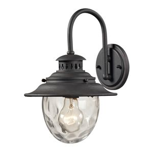 Searsport 1 Light Outdoor Sconce In Weathered Charcoal by Elk Lighting