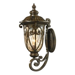 Logansport Collection 1 Light Outdoor Sconce In Hazelnut Bronze by Elk Lighting
