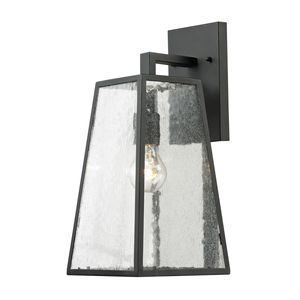 Meditterano Collection 1 Light Outdoor Sconce In Textured Matte Black by Elk Lighting
