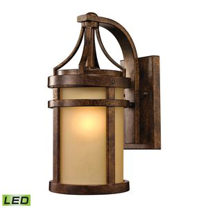 Winona Collection 1 Light Outdoor Sconce In Hazelnut Bronze by Elk Lighting
