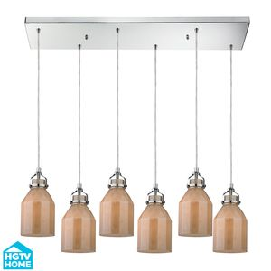 Danica (Existing) Collection 6 Light Chandelier In Polished Chrome by Elk Lighting