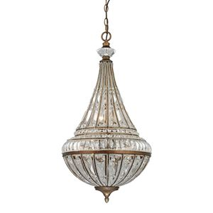 Empire Collection 6 Light Pendant In Mocha by Elk Lighting
