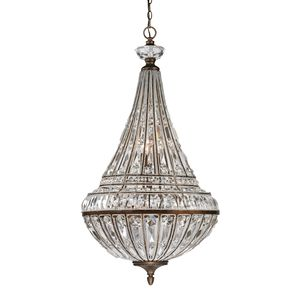 Empire Collection 6+3 Light Pendant In Mocha by Elk Lighting