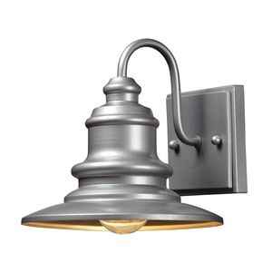 Marina 1 Light Outdoor Sconce In Matte Silver   by Elk Lighting