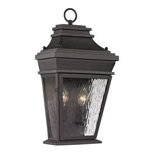 Forged Provincial Collection 2 Light Outdoor Sconce In Charcoal by Elk Lighting