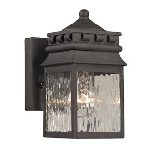 Forged Lancaster Collection 1 Light Outdoor Sconce In Charcoal by Elk Lighting