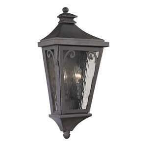 Forged Camden Collection 2 Light Outdoor Sconce In Charcoal by Elk Lighting
