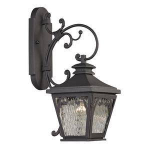 Forged Camden Collection 1 Light Outdoor Sconce In Charcoal by Elk Lighting