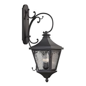 Forged Camden Collection 3 Light Outdoor Sconce In Charcoal by Elk Lighting