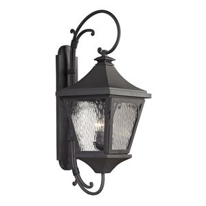 Forged Manor Collection 3 Light Outdoor Sconce In Charcoal by Elk Lighting
