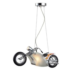1 Light Motorcycle Pendant In Satin Nickel by Elk Lighting