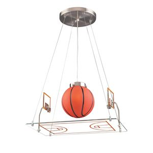 1 Light Basketball Court Pendant In Satin Nickel by Elk Lighting