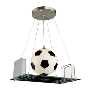 1 Light Pendant In A Soccer Field Motif by Elk Lighting