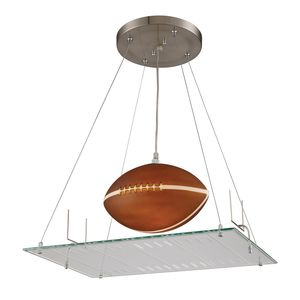 1 Light Pendant In A Football Field Motif by Elk Lighting