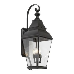Outdoor Wall Lantern Bristol Collection In Solid Brass In A Charcoal Finish by Elk Lighting