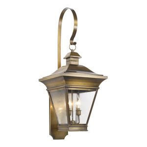 Outdoor Wall Lantern Reynolds Collection In Solid Brass In A Oiled Rubbed Brass Finish by Elk Lighting