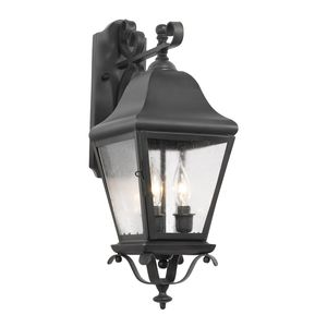 Outdoor Wall Lantern Belmont Collection In Solid Brass In A Charcoal Finish by Elk Lighting