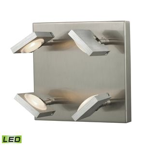 Reilly Collection 4 Light Sconce In Brushed Nickel/Brushed Aluminum by Elk Lighting