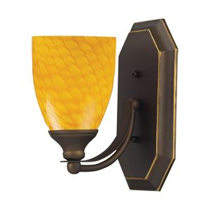1 Light Vanity In Aged Bronze And Canary Glass by Elk Lighting
