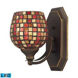 1 Light Vanity In Aged Bronze And Multi Mosaic Glass by Elk Lighting
