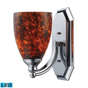 1 Light Vanity In Polished Chrome And Espresso Glass by Elk Lighting