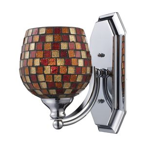 1 Light Vanity In Polished Chrome And Multi Mosaic Glass by Elk Lighting