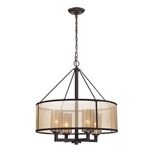 Diffusion Collection 4 Light Chandelier In Oil Rubbed Bronze by Elk Lighting