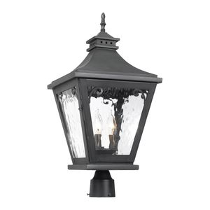 Outdoor Post Lantern Camden Collection In Solid Brass In A Charcoal Finish by Elk Lighting