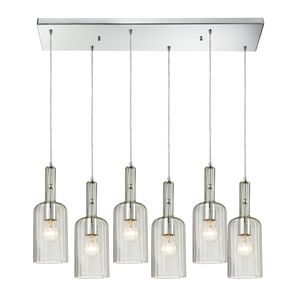 Menlow Park (Existing) Collection 6 Light Chandelier In Polished Chrome by Elk Lighting