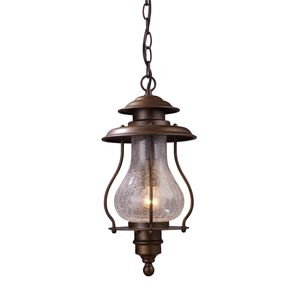 Wikshire 1-Light Outdoor Pendant In Coffee Bronze by Elk Lighting