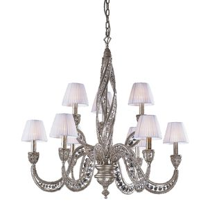 9 Light Chandelier In Sunset Silver And Crystal Accents by Elk Lighting